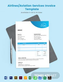 Airlines/Aviation Services Invoice Template