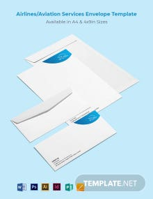 Airlines/Aviation Services Envelope Template