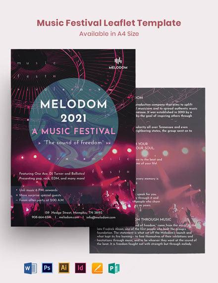 Music Festival Leaflet Template