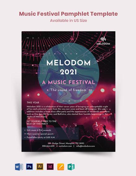 Music Festival Pamphlet