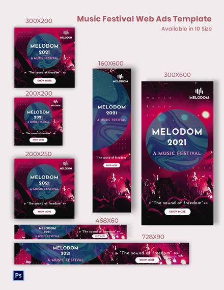 Music Festival Web Ads Template