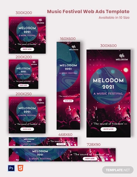Music Festival Web Ads Template