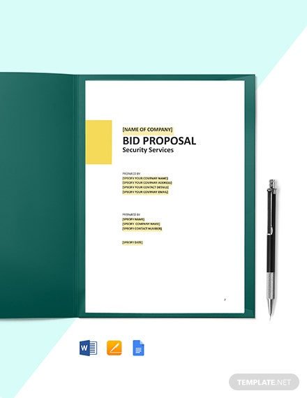 Construction Informal Bid Proposal Template