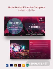 Music Festival Voucher Template