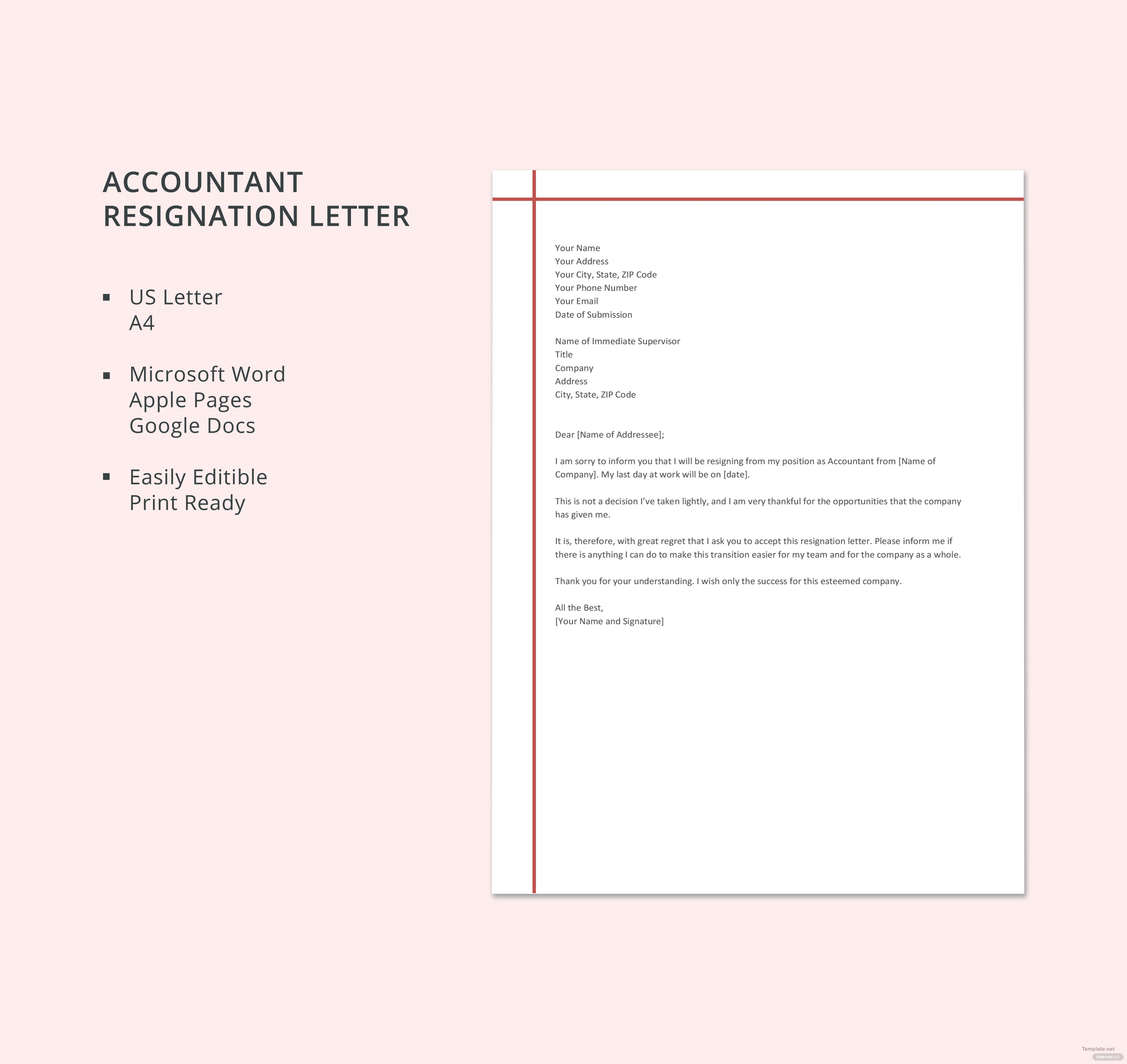 format of resignation letter to boss save free resignation letter ...
