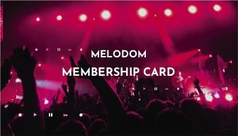 Music Festival Membership Card Template