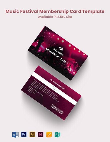 Music Festival Membership Card
