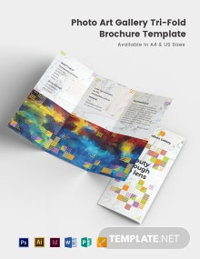 Photo Art Gallery Tri-Fold Brochure Template