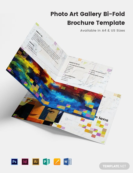 Photo Art Gallery Bi-Fold Brochure Template