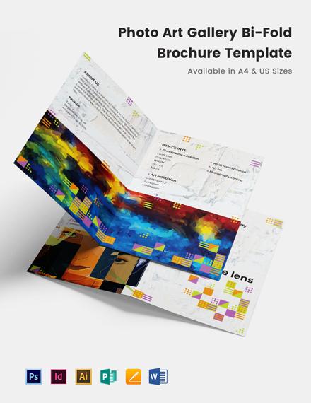 Photo Art Gallery Bi-Fold Brochure Template