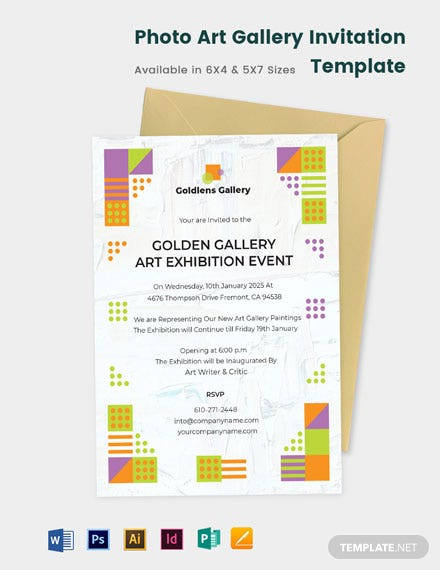 Photo Art Gallery Invitation Template