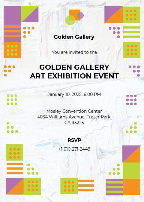 Photo Art Gallery Invitation Template