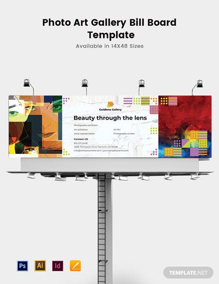 Photo Art Gallery Billboard Template