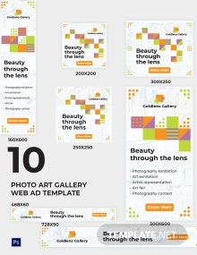 Photo Art Gallery Web Ads Template