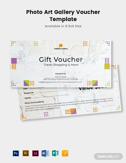 Photo Art Gallery Voucher Template
