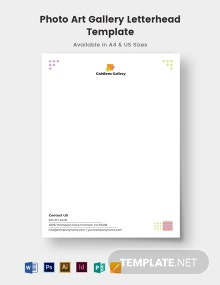 Photo Art Gallery Letterhead Template