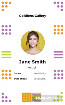 Photo Art Gallery ID Card Template