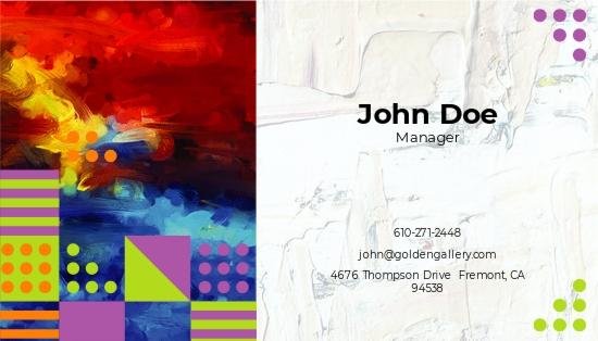 Photo Art Gallery Business Card Template 1.jpe