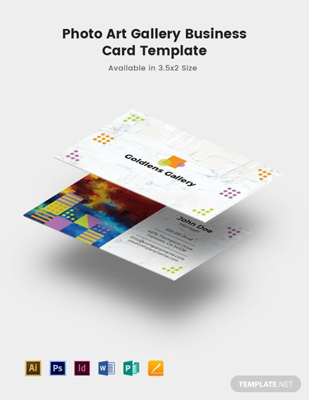 Photo Art Gallery Business Card Template