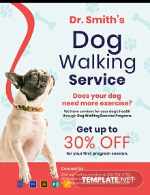 FREE Dog Walking Service Flyer Template