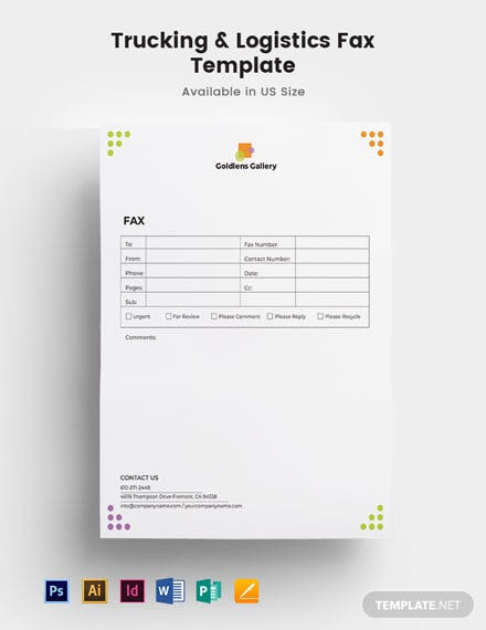 Photo Art Gallery Fax Paper Template