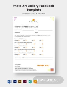 Photo Art Gallery Feedback Form Template