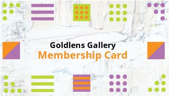 Photo Art Gallery Membership Card Template