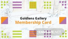 Photo Art Gallery Membership Card Template