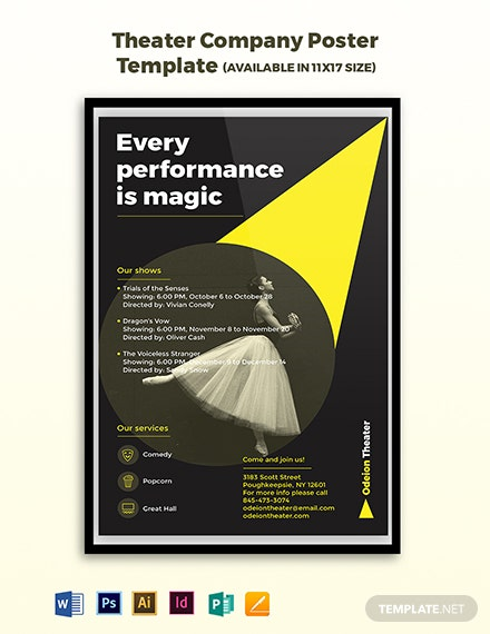 Theater Company Poster Template