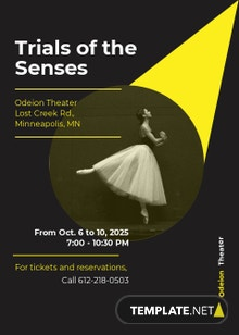 Theater Company Invitation Template