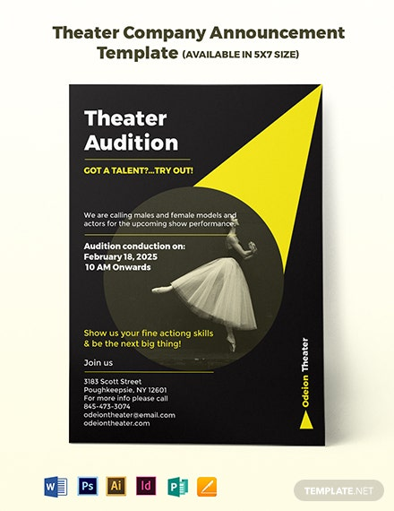 Theater Company Announcement Template