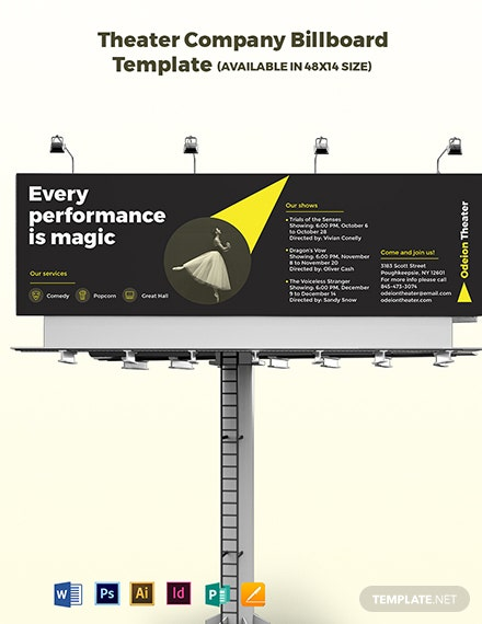 Theater Company Billboard Template