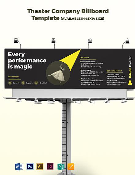 Theater Company Billboard Template