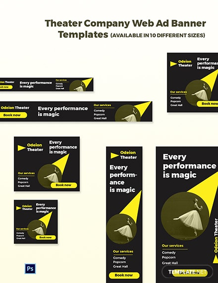 Theater Company Web Ads Template
