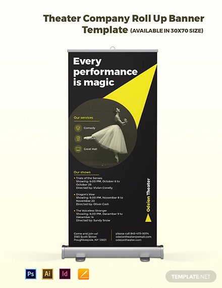 Theater Company Roll Up Banner Template