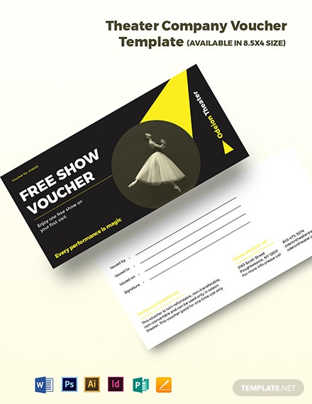 Theater Company Voucher Template