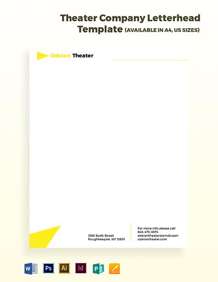 Theater Company Letterhead Template