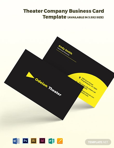 Theater Company Business Card Template