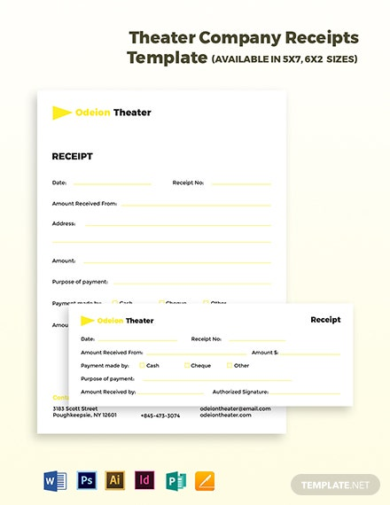 Theater Company Receipts Template