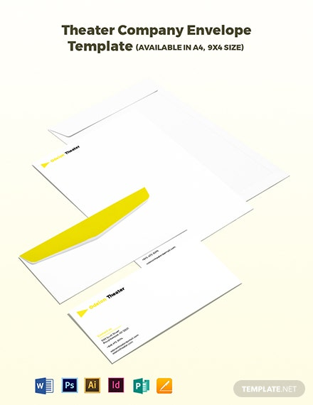 Theater Company Envelope Template