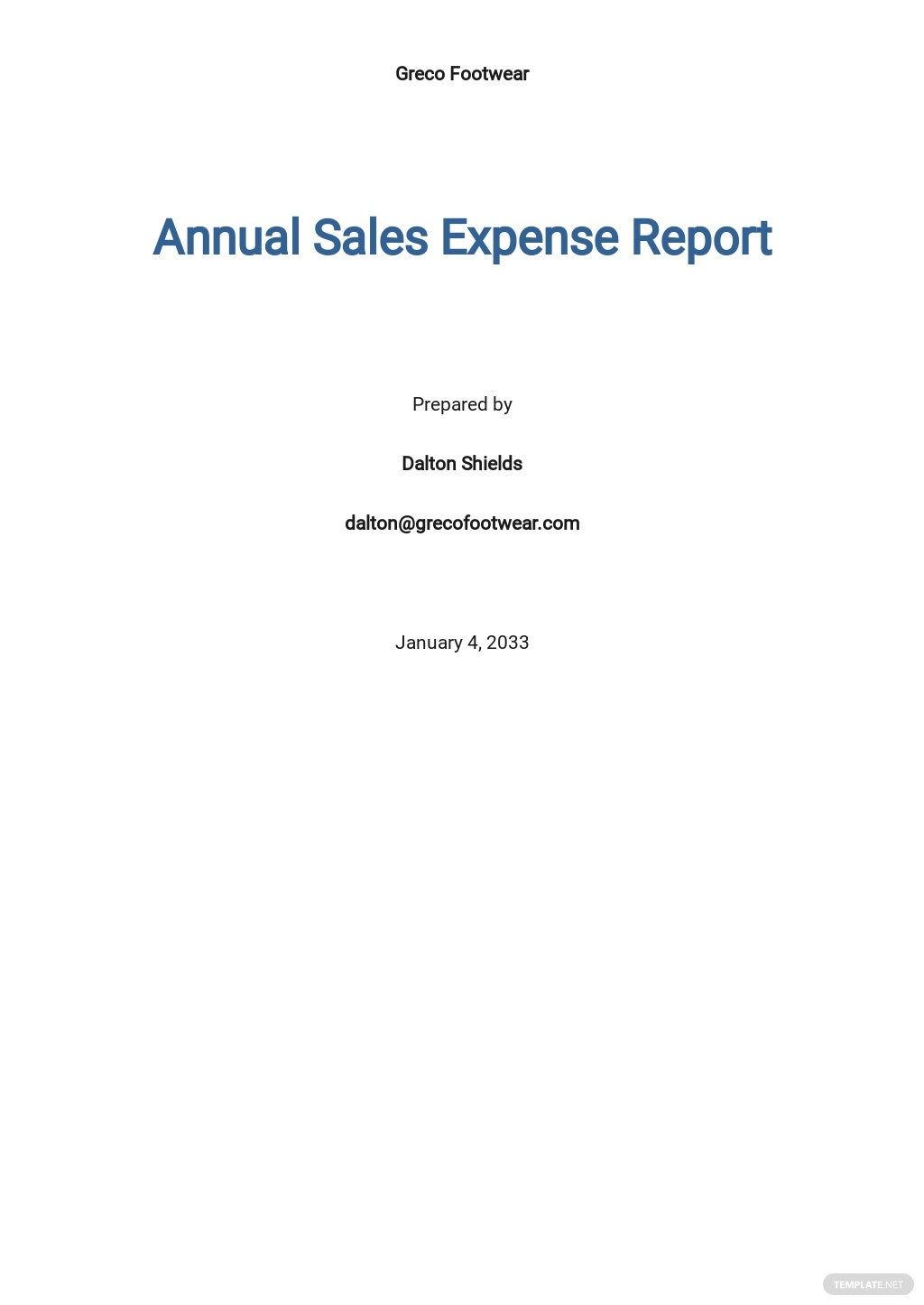 Free Annual Sales Expense Report Template.jpe