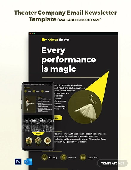 Theater Company Email Newsletter Template