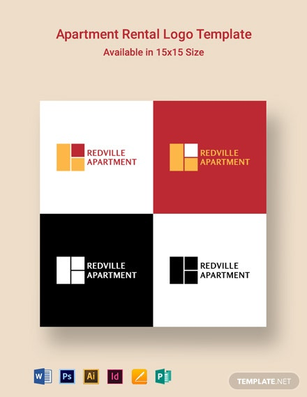 Apartment Rental Logo Template