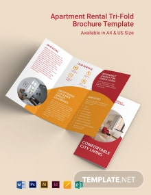 Apartment Rental Tri-Fold Brochure Template