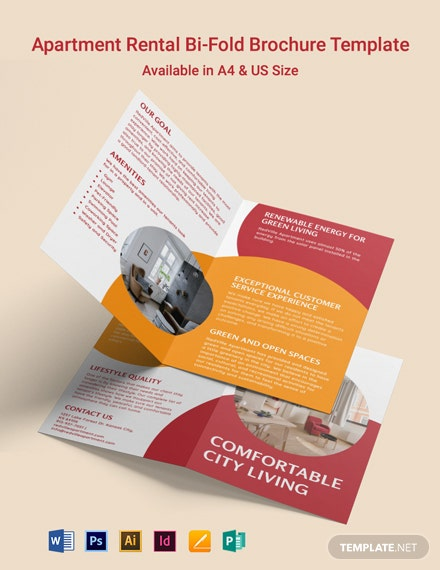 Apartment Rental Bi-Fold Brochure Template