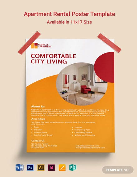 Apartment Rental Poster Template