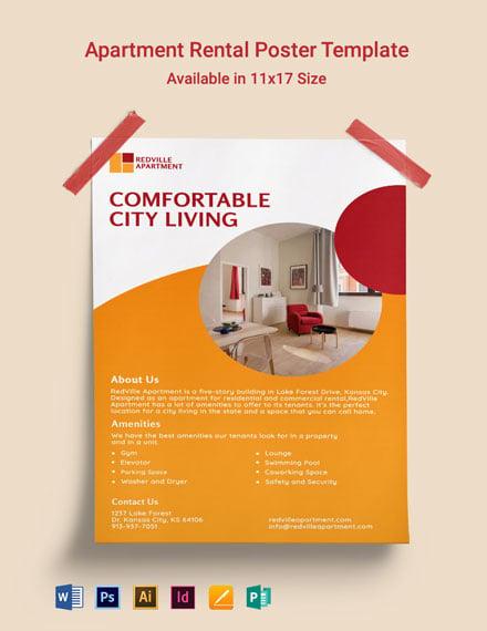 Apartment Rental Poster Template