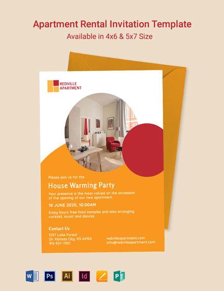Apartment Rental Invitation Template