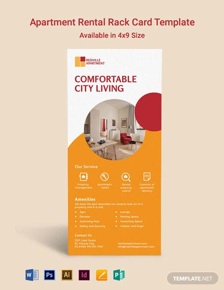 Apartment Rental Rack Card Template