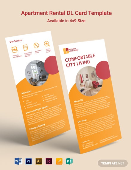 Apartment Rental DL Card Template